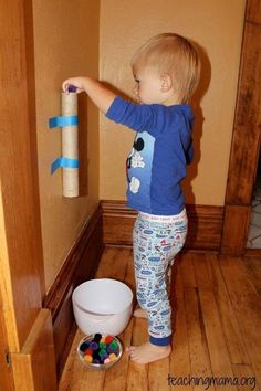 These DIY toddler activities are for ages 18 months, 2 year olds, and preschool children! Perfect for daycare or at home play. There are great educational activities, and ideas for boys and girls! Games For Toddlers, Craft Activities For Kids, Infant Activities, Learning Activities, Crafts For Kids, Educational Activities, Family Activities, Winter Activities For Toddlers, Speech Activities