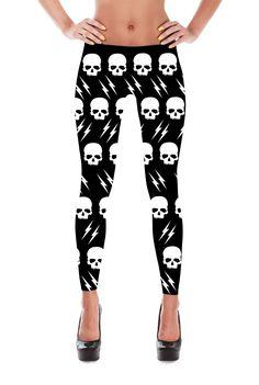 Skull Leggings - Halloween leggings - Suicide Squad - Harley Quinn - Yoga Leggings - Patterned Leggings - Womens Leggings