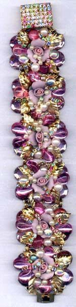 To die for!!  What a beauty~~  Collaged sectional bracelet by Brenda Sue Lansdowne of bsueboutiques.com