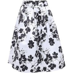Yoins Full A-line Midi Skirt With Floral Print (34 AUD) ❤ liked on Polyvore featuring skirts, black, floral, floral skirts, calf length skirts, floral midi skirts, sexy high waisted skirts and floral a line skirt