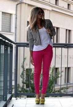 H  Blazers, Zara  Pants and Zara  Tacones / Plataformas