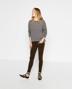 Image 1 of SKINNY MID-RISE TROUSERS from Zara