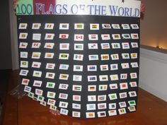 100 days of school project - 100 Flags of the World