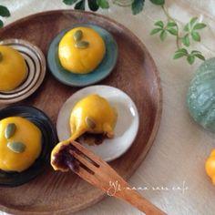 もちもち♪ 簡単♪かぼちゃの豆腐白玉あんこ餅♡