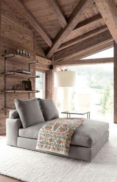 Love this combo bed/sofa | Beautiful Interiors | Chalet 2010: Rustic Modern Home | Busyboo