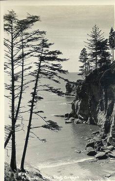 $4.99 1920s Black and White Photo Postcard Otter Rock Oregon Coast Unused