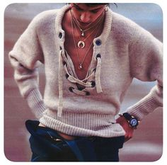 Isabel Marant designer.  Of course, I'd have a thin tank on underneath but I love this sweater