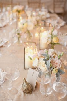 Tablescape of rose gold | Photography by Elisabeth Millay