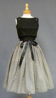 Black and White 1950's Sundress
