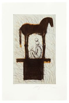 mimmo paladino prints - Google Search Etching Prints, Happy People, Les Oeuvres, Art Drawings, Moose Art, Symbols, Horses, Abstract, Painters