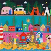Happy Campers in Bright by Alexander Henry Fabrics 8247A