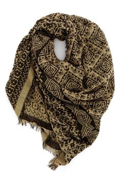 Layering up this fall with this cozy Nordstrom Anniversary Sale find! This ornately patterned woven jacquard scarf is framed in softly fringed edges.