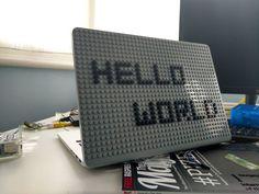 Hello World MacBook Case from BrikBook.com hello world, wonderful world, hello, hello weekend, macbook, macbook case, pixel, pixel art, 8bit Shop more designs at http://www.brikbook.com #helloworld #wonderfulworld #hello #helloweekend #macbook #macbookcase #pixel #pixelart #8bit