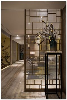 80 Stunning Privacy Screen Design for Modern Home Glass Room Divider, Room Divider Walls, Living Room Divider, Room Divider Bookcase, Divider Cabinet, Screen Design, Room Partition Designs, Partition Ideas, Partition Screen