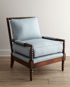 Ellsworth Spindle-Back Chair by Old Hickory Tannery at Horchow.