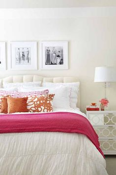 orange and pink rooms | Style+at+Home+Orange+and+Pink+Bedroom.jpg
