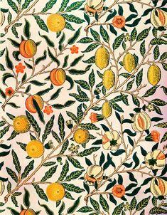 William Morris Wallpaper, William Morris Art, Morris Wallpapers, Flower Wallpaper, Pattern Wallpaper, Hall Wallpaper, Artistic Wallpaper, William Morris Patterns, Fruit Art
