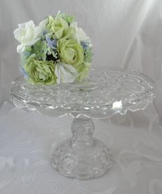 Gorgeous L.E. Smith Moon and Stars Pedestal Cake by SecondWindShop, $49.50