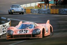 """The Porsche 917/20 """"Pink Pig"""" at Le Mans, 1971. A one off, the chassis was a testbed for Can-Am low-drag concepts"""