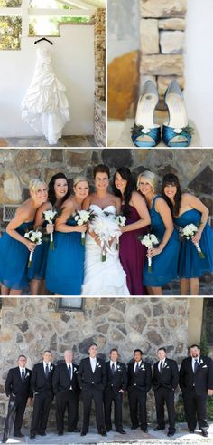 Clayton Wedding at Chota Falls by Sara D. Photography peacock/jewel tones