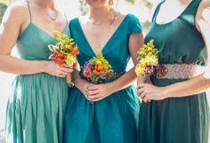santa cruz mountains bridesmaids via Gather West Photography