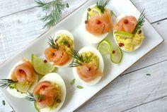 Фаршированные яйца: отличная закуска! 16 вариантов