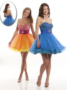 Cute A-line Sweetheart Knee Length Organza Sleeveless Cocktail Dress-$156.99-ReliableTrustStore.com