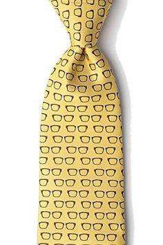 e6eeb817a24 Mens Eye Glasses Four Eyes Optometrist Doctor Tie Necktie Yellow     More  info could