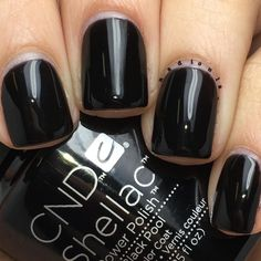 """Nadia on Instagram: """"@cndworld Shellac Black Pool. I used CND Base Coat, 2 coats of Shellac Black Pool, and topped off with CND Shellac Xpress5 Top Coat. Cured in the CND LED Lamp."""""""