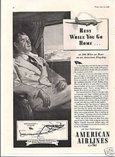 American Ariline Rest While You Go Home (1938)