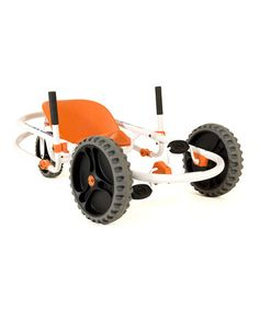 White & Orange Explorer Go Kart by YBIKE on #zulily