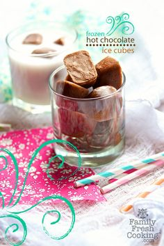 Frozen Hot Chocolate Ice Cubes!!