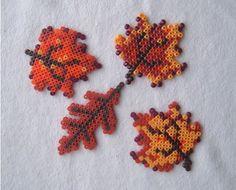 Autumn hama beads by beadmerrily, via Flickr