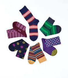 Fun, colorful men's socks to cover your toes—and still make a statement
