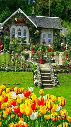Solve Beautiful homes jigsaw puzzle online with 28 pieces Solve Beautiful homes jigsaw puzzle online with 28 pieces Garden Cottage, Cottage Homes, Cottage Style, Home And Garden, Beautiful Flowers Garden, Beautiful Gardens, Beautiful Homes, Beautiful Places, Beautiful Nature Wallpaper
