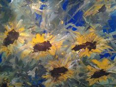 Artwork >> Arturo Arboleda Restrepo >> #sunflower horizon  #artwork, #oil, #painting, #masterpiece, #contemporary, #beauty, #extraordinary