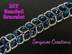 (5) Beaded Leafy Bracelet DIY Easy Tutorial - YouTube