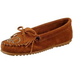 Minnetonka Women's Kilty Peace Sign Moccasin - Dusty Brown...bought a few weeks ago and love them.