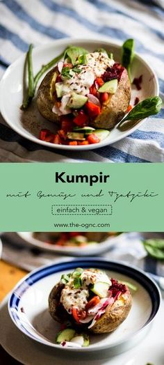 Kumpir mit Gemüse und Tzatziki