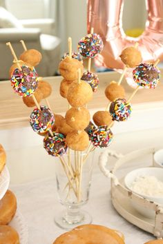 A donut themed first birthday party. Ideas to help you plan the perfect first birthday for your little one! A donut themed first birthday party. Ideas to help you plan the perfect first birthday for your little one! Donut Birthday Parties, Gold Birthday Party, Donut Party, Birthday Party Themes, Birthday Photos, Birthday Cakes, Kids Birthday Themes, Circus Birthday, Baby Girl First Birthday