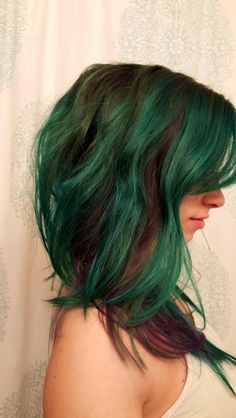 Earth hair by manic panic! Enchanted forest, Venus envy, ultra violet.
