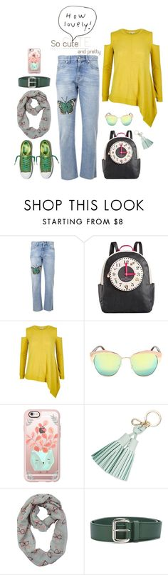 """Street style"" by hani-bgd ❤ liked on Polyvore featuring Gucci, Betsey Johnson, River Island, Casetify, Kate Spade, Orciani and StreetStyle"