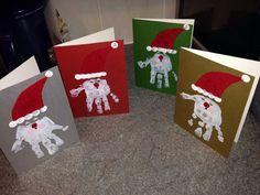 Christmas hand prints