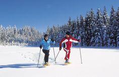 Schneeschuhwandern verbindet Sport mit Entspannung in einer atemberaubenden Winterlandschaft rund um den Wolfgangsee. Probieren Sie es aus! Mount Everest, Sport, Mountains, Nature, Travel, Winter Landscape, Round Round, Vacation, Deporte