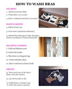 Taking proper care of your bras will keep your bras beautiful and most importantly make them last longer. Here's 14 tips on how to wash bras #fashion #tips...read the full article