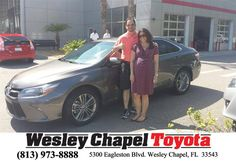 https://flic.kr/p/Ha9ztm | Happy Anniversary to Adrianne on your #Toyota #Camry from Vince Haley at Wesley Chapel Toyota! | deliverymaxx.com/DealerReviews.aspx?DealerCode=NHPF