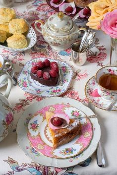 High tea by tlicious.. sc- Not actually High Tea, but a beautiful Tea Time all the same. Using Royal Albert plates, cup and saucer.