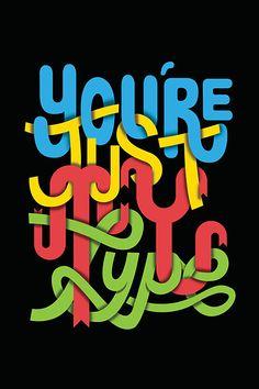 Typographic Illustrations by Chris Wharton