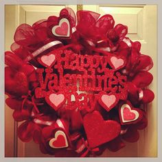Valentines wreath with sign