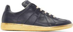 Maison Margiela - Navy Leather Replica Sneakers
